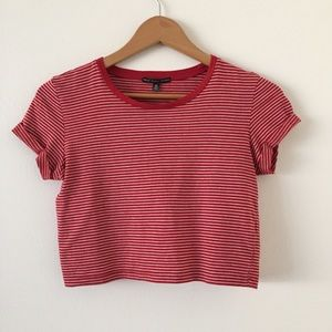 Urban Outfitters | Top Tee Roll-Cuff Striped
